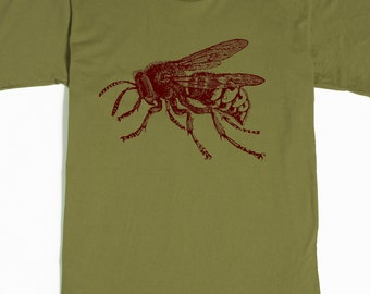 Bee Shirt - Men's Bumblebee T-shirt - Honey Bee Tee - Insect Shirt - Huge Bug - American Apparel