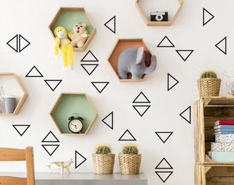 Triangle nursery  wall decal, Wall decals nursery, Triangle vinyl decals, Triangle decal, Triangle stickers, confetti decals #68