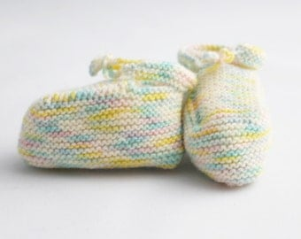Cashmere-blend Knit Baby Booties Multi-colored Ombre Maryjanes