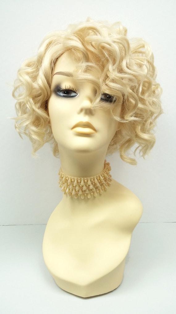 Short Blonde Curly Wig 63