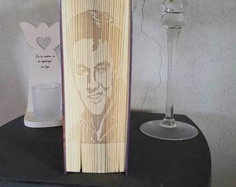 "Book folding pattern ""Elvis Presley"" cut and fold, measurements pattern"