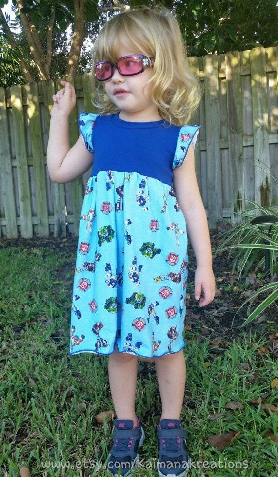 Girls Hazelbee Rescue Bots dress