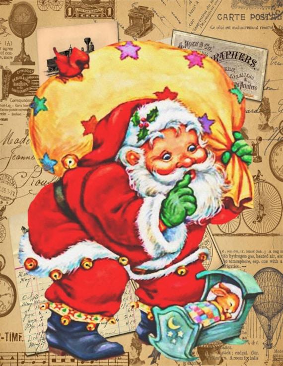 Vintage Yard Santa eBay