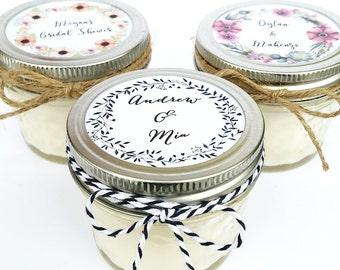 25 Wedding Favor Candles | Mason Jar Favors | Rustic Favors | Wedding Favors | Custom Wedding Favor | Baby Shower Favor | Custom Favors