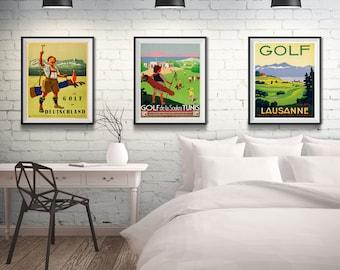 Merveilleux Golf Posters Golf Gifts Golf Wall Art Set Of 3 Vintage Golf Prints Gift For  Golf