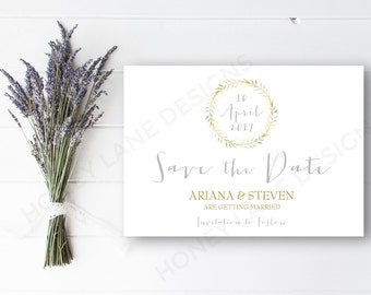 Personalised Printable, Save-the-Date-Printable Card - Ariana Collection