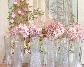15 Glass Vases Bud Wedding Bud Clear Glass Vases Party Wedding Centerpiece
