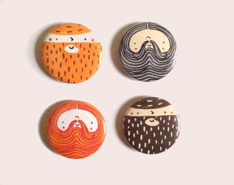 Beardy Boys - Magnet Set