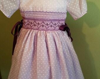 smock purple dress size 6