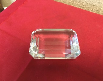 Tiffany Emerald Cut Paperweight