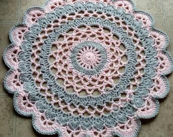 Ohio State Buckeyes Crochet Rug Handmade By