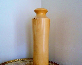 Aspen Wood Hand Turned 20 Inch Tall Vase by NATURE TURNS Creations in Native Colorado Woods Vintage