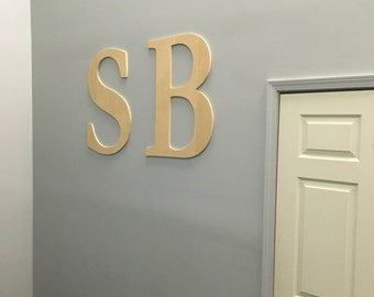 Large Wooden Wall Letter - 30 Inch Maple