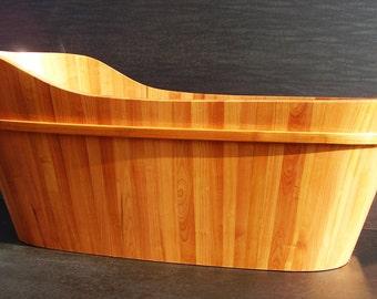 Cherry wood bathtub