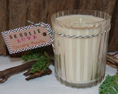 8oz - Soy Wax Candle - Creamy Vanilla Scent - Recycled Glass from Florida