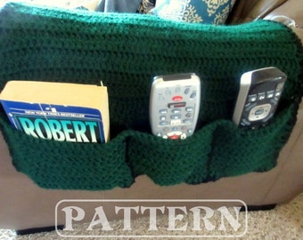 Remote Holder, Armchair Organizer Crochet Pattern, Armrest, Remote Control Cozy, Couch Caddy, Digital Download, PDF File
