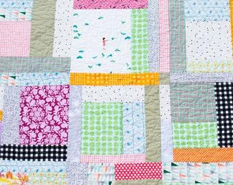 Modern Baby Quilt, Toddler Quilt, Baby Quilt, Baby Bedding, Crib Quilt, Baby Blanket, Nursery Decor, Patchwork Quilt, Bohemian Quilt