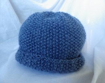 Child's Beanie Hat in Moss Stitch