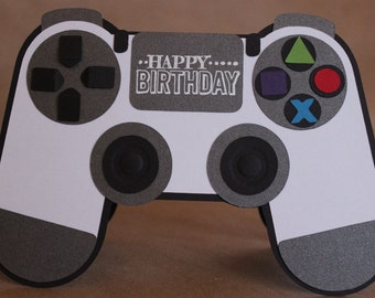 Game On! Video Game Controller Shaped Card