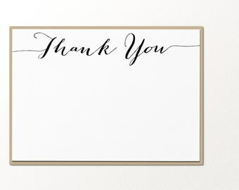 thank you notecard stationary set // personalized stationary // flat note card
