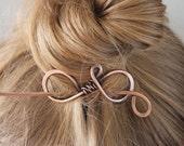 Plain Copper Hair Stick, Metal Hair Clip, Hair Barrette, Hair Accessories for Women Gift for Her, Hair Pin, Small, Medium, Large, Hair Slide