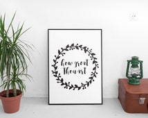 How Great Thou Art Bible Verse Print Encouraging Quotes Encouragement Gift Women Scripture Print Art Inspiring Quote Printable Art