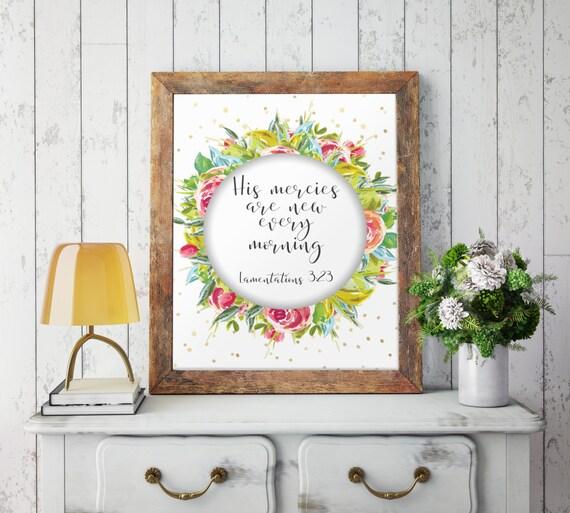 Religious Wall Decor For Nursery : Nursery wall art printable decor bible verse