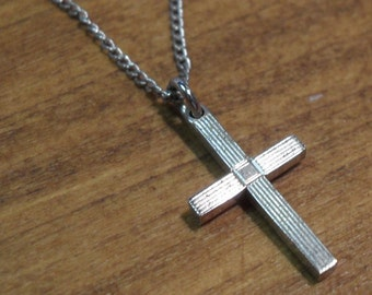 Sterling Silver Cross Necklace~ Small!