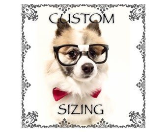 Make your hoodie a custom size, small breeds
