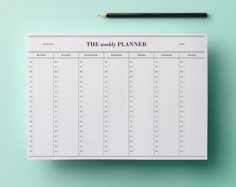 50% sale! Weekly planner - hours (6 am to 12 am) #5
