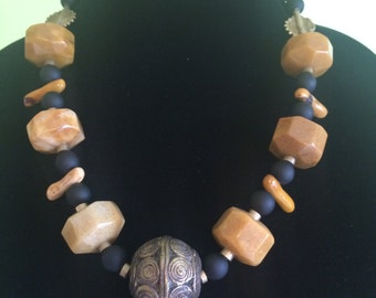 Three Continents Necklace. One of a kind.