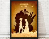 Vintage Howl's Moving Castle Hayao Miyazaki Minimalist Poster, Vintage Poster, Minimalist Poster, A3 Print (11.7x16.5 inches)