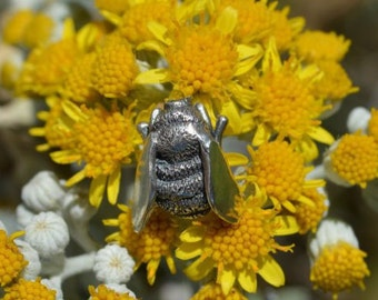 Sterling Silver Lapel Pin: Bumble Bee