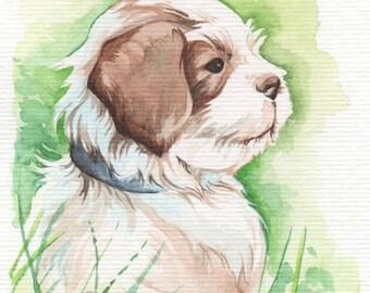 Cute Puppy | 4x6 Original Watercolor
