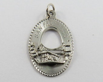 Golden Gate Bridge San Francisco Sterling Silver Charm or Pendant.