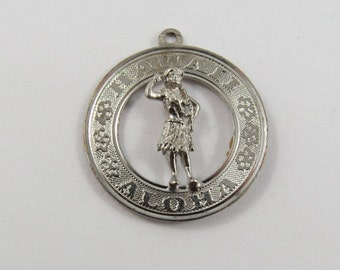 Hula Dancer from Hawaii Aloha Sterling Silver Charm or Pendent.