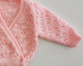 Knitted Baby Crossover Cardigan