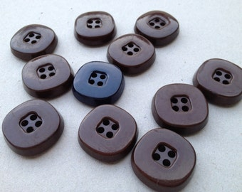 Buttons Brown 10 pcs