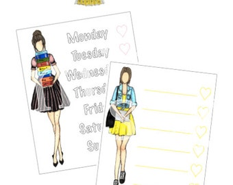 University/School Checklist Sidebar Sticker Set