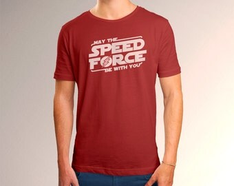 "The Flash Inspired ""May the Speed Force Be With You"" Men's T-Shirt"