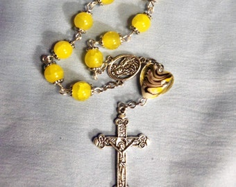 Single Decade Rosary, Finger Rosary, Catholic Rosary, Rosary Beads, Rosary, Prayer Beads, Catholic, Christian