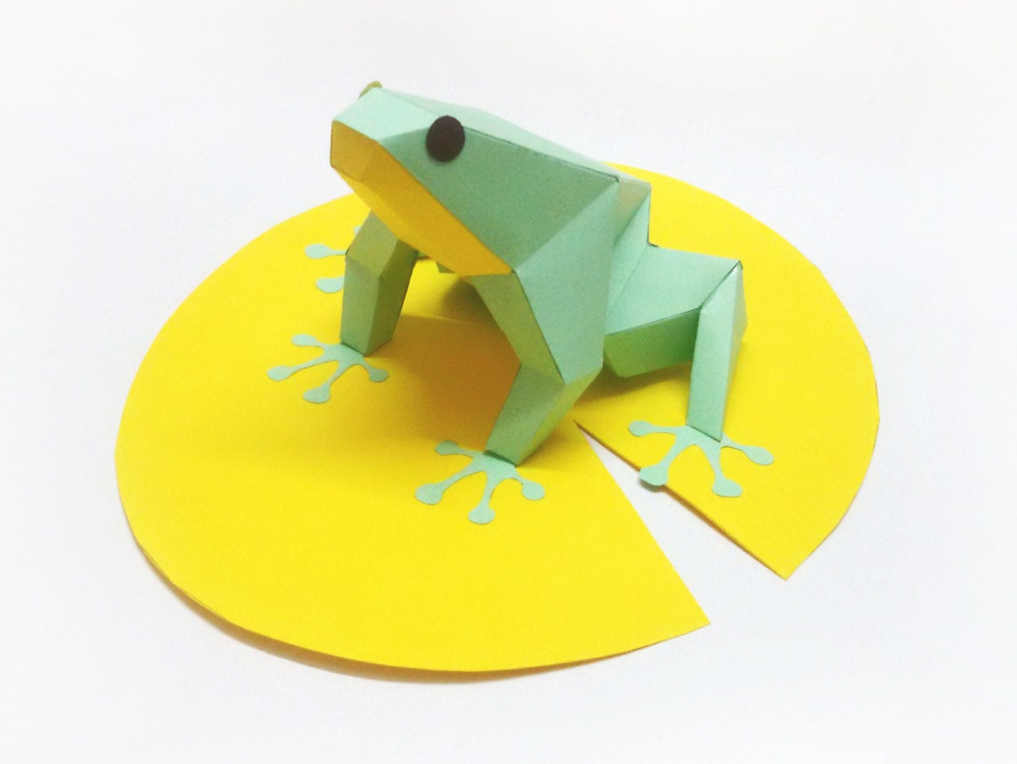 how to make a 3d frog out of paper