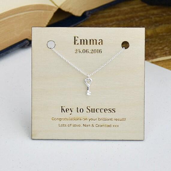 key to success personalised sterling silver by ellieellieltd