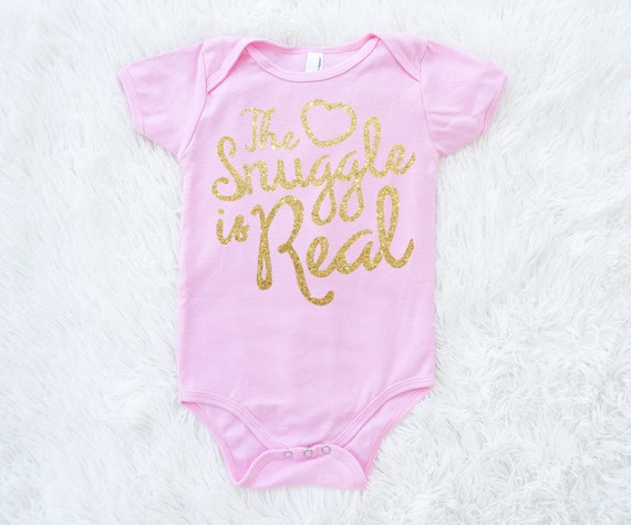 The Snuggle Is Real One Piece Bodysuit Baby Shower By