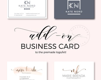 Add-on Business Card, Premade Business Card Template