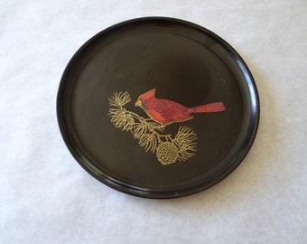 Vintage Couroc Cardinal Serving Tray