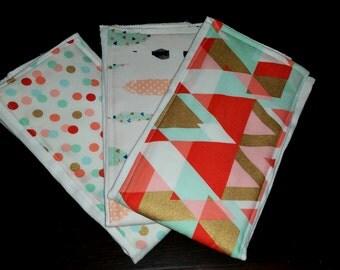 Baby Burp Cloths- Set of 3
