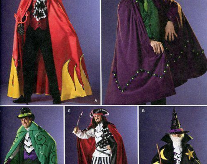 Simplicity 2499 Free Us Ship Sewing Pattern Adult Costume Cape Cloak Dracula Vampire Devil Wizard  Halloween New Size  XS-M  Chest 30-40