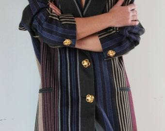 Vintage unique striped suit jacket blazer.size 46