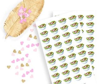 Salad sticker, life planner sticker for kikki k, filofax or erin condren